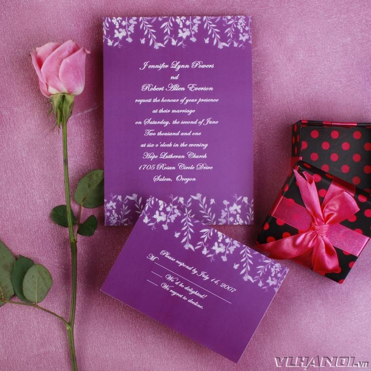 Afforable-Romantic-purple-leaves-and-butterfly-wedding-invitations-EWI180